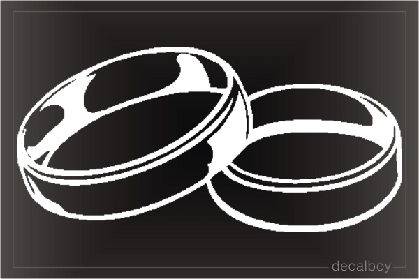 Wedding Rings Car Decal