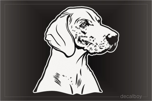 Weimaraner Dog Face Decal