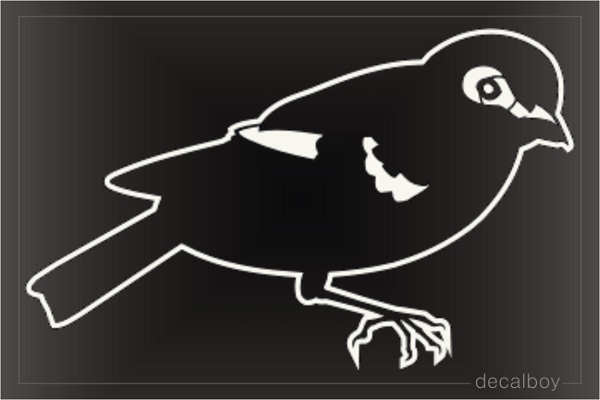 Willow Goldfinch Window Decal