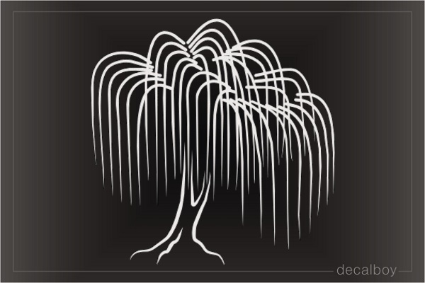 Willow Tree Window Decal