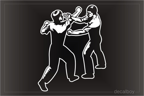 Wing Chun Kung Fu Martial Art Window Decal