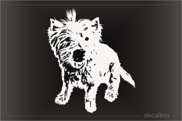 Yorkshire Yorkie Puppy Decal