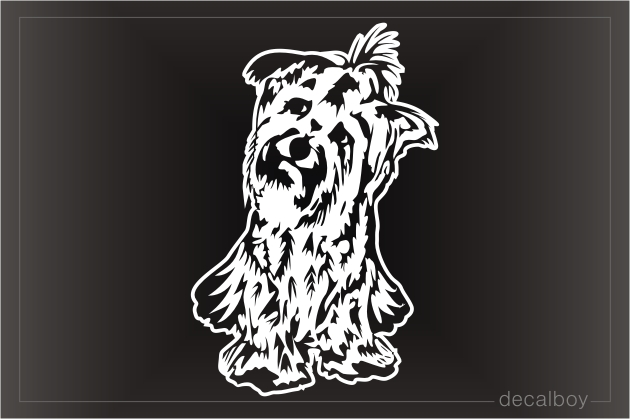 Yorkshire Terrier Dog Car Window Decal