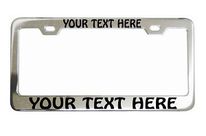 Personalized Custom Saying On Chrome License Frame