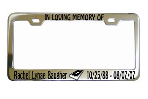 In Loving Memory Bible License Frame