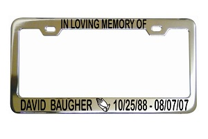 In Loving Memory Praying Hands License Frame