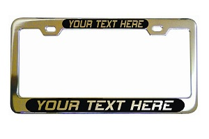 Personalized Black Plate License Frame