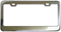 Plain Chrome License Frame