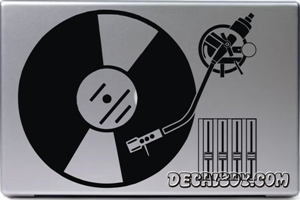 Dj Turntable Laptop Decal