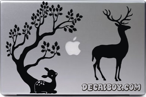 Tree Fawn Buck Laptop Decal