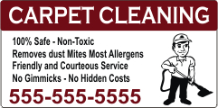 Carpet Cleaning Service Magnetic Sign