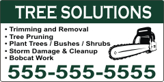 Tree Solutions Magnetic Sign