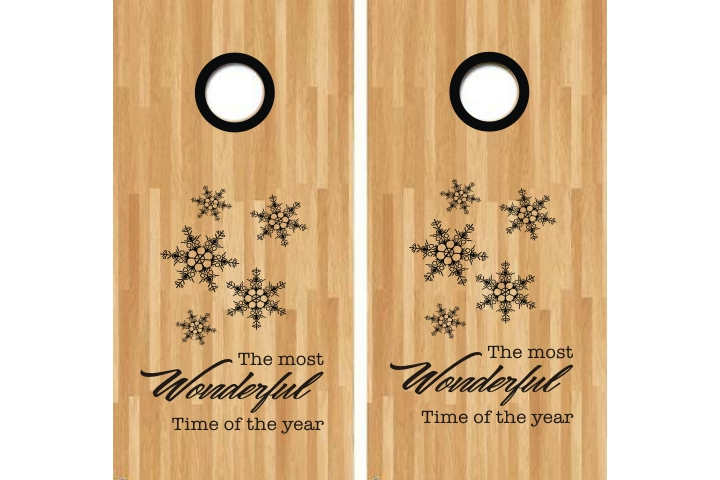 Snowflake Pattern Cornhole Decal