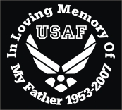 Memorial decal with US Air Force emblem