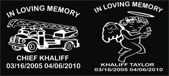 in loving memory Decal with angel