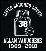 Memorial lived laughed loved decal for basketball player