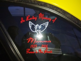 In Loving Memory of my Mom Dove Car Decal