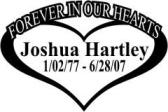 forever in our hearts custom name decal