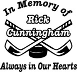 in loving memory decal for hockey player